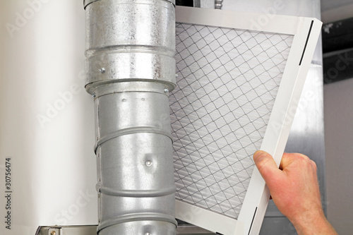 Fotografia, Obraz  Home Air Filter Replacement