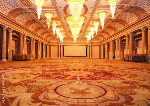 Grand luxurious hotel hall Fototapet