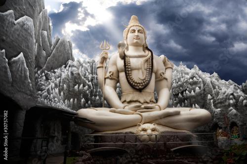 Obraz na plátně Big Lord Shiva statue in Bangalore