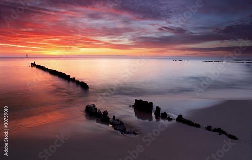 Sunrise on ocean - baltic