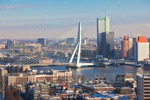 Staande foto Rotterdam Rotterdam view from Euromast tower