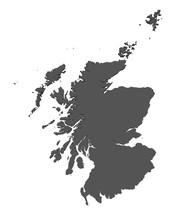 Karte Von Schottland - Freigestellt