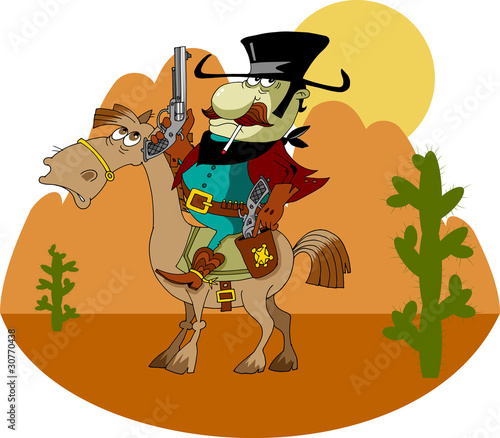 Deurstickers Wild West bandito