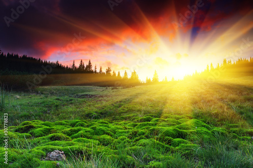 Photo Stands Landscapes mountain landscape