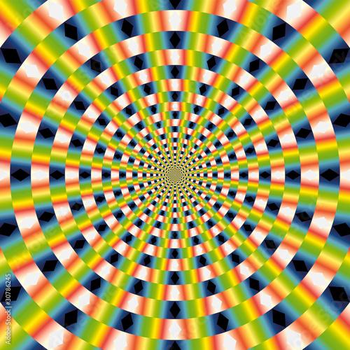 Poster Psychedelique vector optical art
