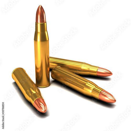 3d bullets Canvas Print
