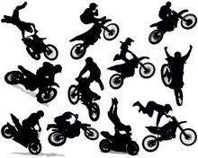 Motorcycle Stunt Set 01