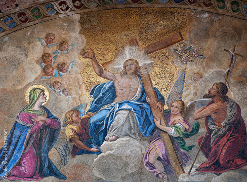 Fotomural Easter resurrection mosaic, Venice, Italy