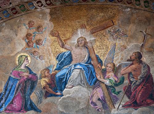 Fotografia Easter resurrection mosaic, Venice, Italy