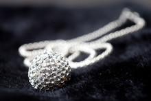 Silver Jewlery On Black Backgr...