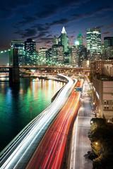 Panel Szklany Podświetlane Do biura Amazing New York cityscape - taken after sunset