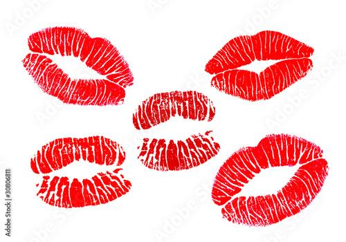 Kuss mit lippenstift