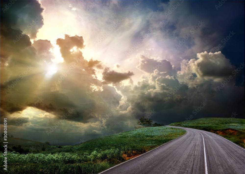 Fototapeta the road