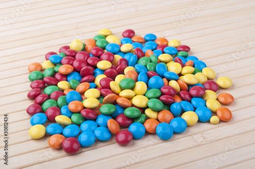 Printed kitchen splashbacks Cat colored candies
