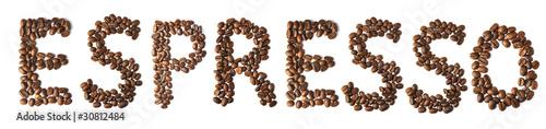Canvas Prints Coffee beans Uno espresso