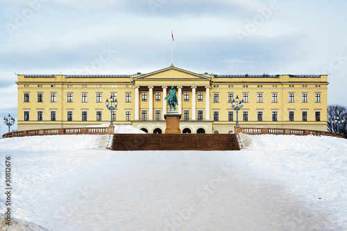 The Royal Palace in Oslo, Norway Poster