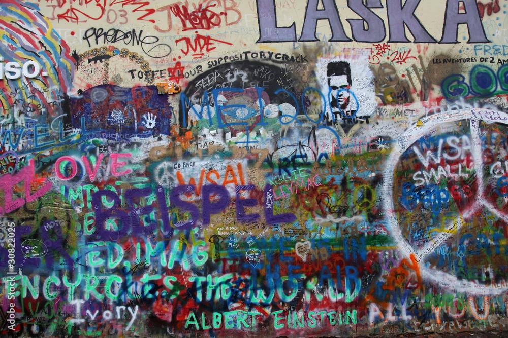 Fototapeta John Lennon Wand Prag
