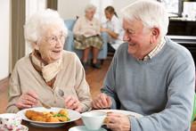 Senior Couple Enjoying Meal Together