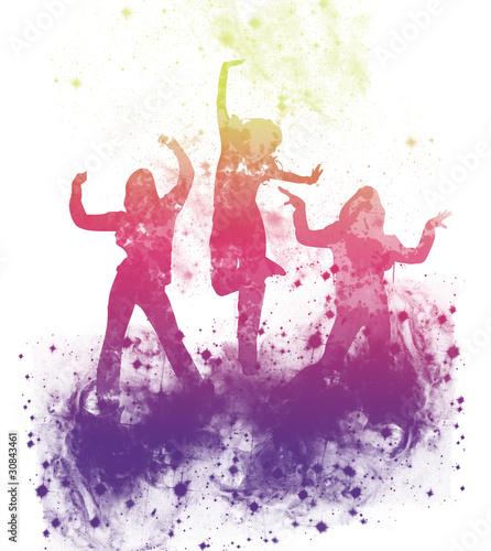 danseuses fitness dans les étoiles Canvas Print