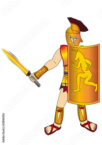 Papiers peints Chevaliers The Warrior with weapon