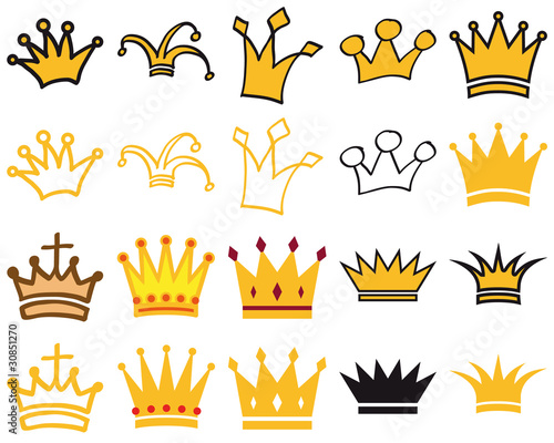 Crowns 1 Wallpaper Mural