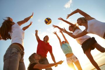 Fototapeta volleyball on the beach
