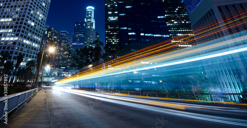 Photo sur Aluminium Los Angeles Traffic through the city