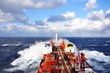 canvas print picture - chemical tanker at sea