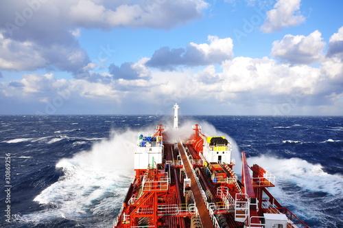 chemical tanker at sea