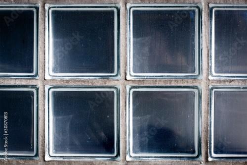 Fototapeta Pattern of Glass Block Wall obraz na płótnie