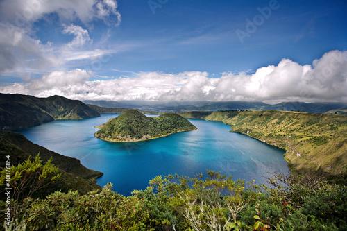 Photo Stands South America Country Cuicocha caldera and lake in Ecuador South America