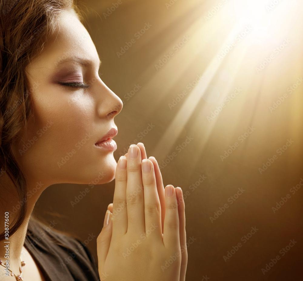 Fototapety, obrazy: Beautiful Praying Girl