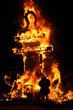 Cremá, 19 de marzo 2011, falla ardiendo, Valencia, España