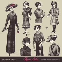 Vector Set: Elegant Ladies - R...