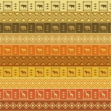 Safari Pattern On Striped Background