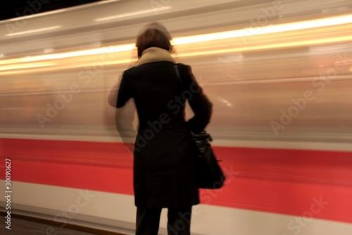 Cuadros en Lienzo metropolitana in velocità