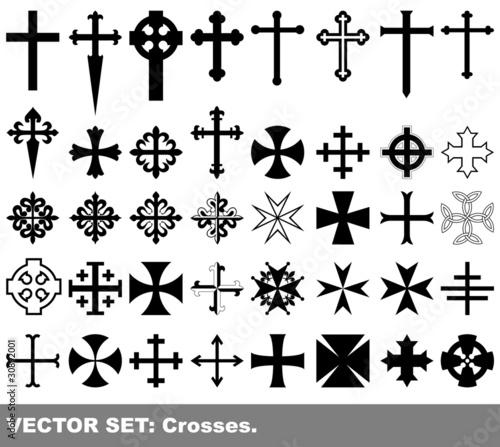 Valokuva Vector set: crosses