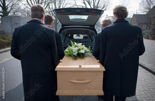 Fototapeta Mourning car