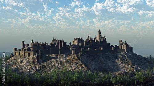 Medieval Hilltop Castle Canvas Print