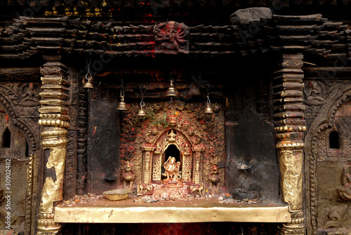 Bronze Goddess at Hindu temple in Nepal 3.