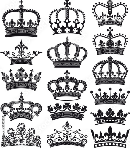 Photographie crown and coronet silhouettes