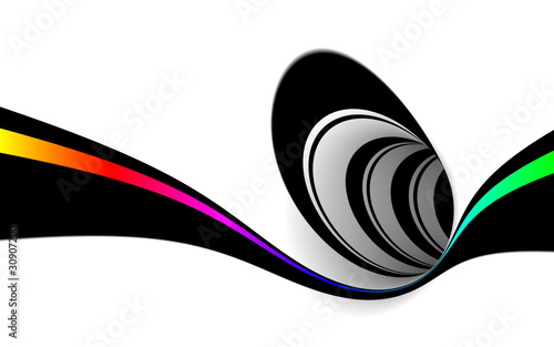 Abstract black and white design