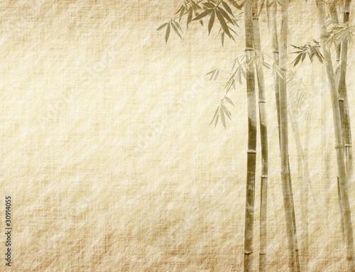 bambus-na-starej-grunge-tekstury-papieru-antyczne