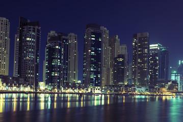Fototapeta na wymiar Town scape in the night