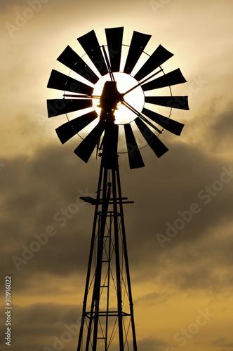 Zdjęcie XXL Sylwetka wiatrak