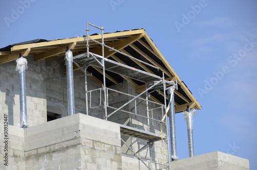 Valokuva  maison en construction