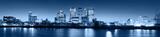 Fototapeta Londyn - Canary Wharf at twilight