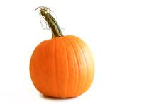 Isolated Orange Pumpkin On White Background