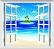 Spiaggia Tropicale alla Finestra-Exotic Landscape on Window
