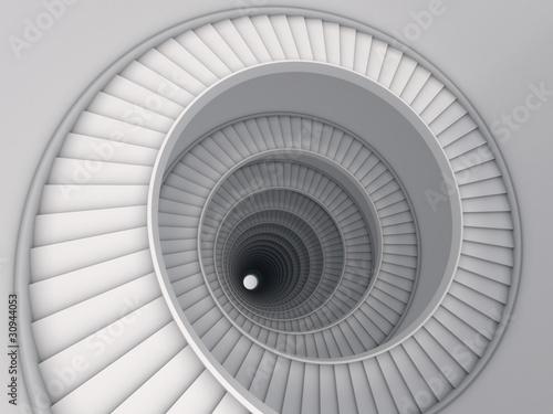 Fotografie, Obraz Spiral stair